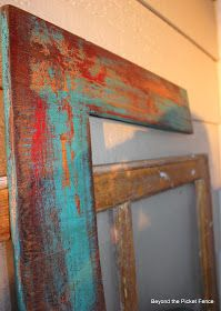 How To Get A Layered, Vintage Looking Paint Finish - this is an awesome, layered paint finish using a mixture of paint, wax, soap, salt, stain and water. Wow, what a brilliant idea!!!