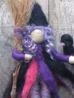 Needle Felted Cute Kitchen Witch Original design by by boridolls, $32.00