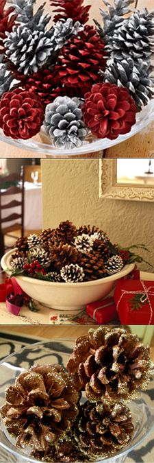 DIY Homemade Holiday Scented Pinecones