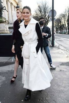Olivia Palermo is seen arriving at Ralph Russo show during Paris Fashion Week Menswear Fall Winter 2018/2019 on January 22 2018 in Paris France