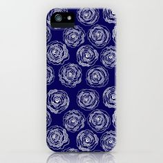Buy 'Doodle Roses' Navy Blue and White iphone case by Notsundoku | Society6. A repeat pattern of hand drawn doodle roses. #repeatpattern #patterns #roses #doodles #doodleart #flowers #handdrawn #Notsundoku #Society6 #iphonecases #iphonecovers #phonecases #phonecovers #iphoneaccessories #phoneaccessories