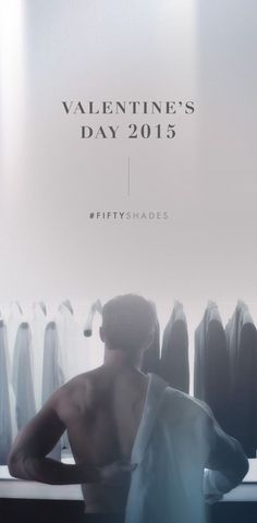 A closet full of grey. | Fifty Shades of Grey | In Theaters Valentine's Day