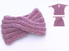Weekender / DROPS - Free knitting patterns by DROPS Design Design tricot How to knit a head band with a cable mid front. Knitting Stitches, Knitting Patterns Free, Free Knitting, Crochet Patterns, Hat Patterns, Knitting Socks, Knitting Ideas, Bandeau Torsadé, Knitted Headband Free Pattern