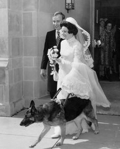 Blind Bride with her sight dog...