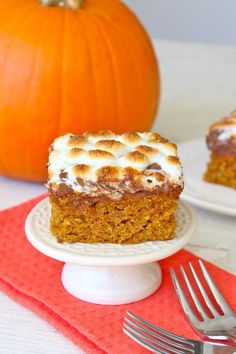 Pumpkin S'mores Snack Cake from The BakerMama