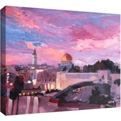ArtWall Martina And Markus Bleichner Jerusalem Gallery-Wrapped Canvas Art, Size: 24 x 32, Brown