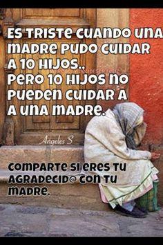 Gracias x cuidar de mi madre,gracias x proveerle ,gracias por bendecirla 🙇♀️🙇♀️🙇♀️🙇♀️🙇♀️🙇♀️😭😭😭😭Bendito seas mi DIOS🖐🖐🖐🖐❤️❤️❤️❤️ Mother Quotes, Mom Quotes, Family Quotes, True Quotes, Motivational Quotes, Qoutes, Inspirational Quotes, Mafalda Quotes, Quotes En Espanol
