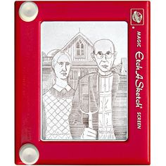 """American Gothic"" by Jeff Gagliardi on an Etch-A-Sketch - from telegraph (#14 of 30)"
