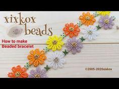 Beaded Flowers Patterns, Beaded Jewelry Patterns, Beading Patterns, Seed Bead Jewelry, Bead Jewellery, Handmade Wire Jewelry, Handmade Crafts, Making Bracelets With Beads, Beaded Bracelets