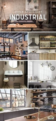 Love Industrial design? Find the best selection for your project - from floor to ceiling at Build.com #interiordesignideasonabudget #interiordesignideasbedroom #interiordesignideaslivingroom #interiordesignideasforsmallspaces #interiordesignideas