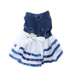PanDaDa Pet Dog Tutu Dress Princess Stripe Bow Lace Skirt Puppy Clothes Appa... * See this great image  : Dog Apparel and Accessories