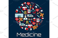 Healthcare and medicine icons by seamartini on @creativemarket