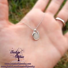 Indigo Willow Breast Milk Jewelry & Keepsakes: Mother and Child Pendant in Sterling Silver