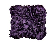 Scatter Box Satin Luxurious and Soft Feather Filled Cushion, 45 cm, Ruffle Purple Purple Throw Pillows, Accent Pillows, Cushion Inspiration, Purple Home Decor, Bed Throws, Gifts For Mum, Soft Furnishings, Discount Designer, Contemporary Furniture
