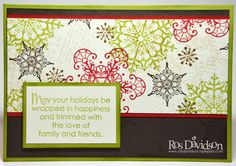 Making Merry Monday #5 PDF with step by step instructions to make 5 cards using the same materials can be found here featuring snowflake soiree & a one sheet wonder; http://rosdavidson.typepad.com/ros_davidson_live_life_an/2013/04/april-mmm-pdf.html#