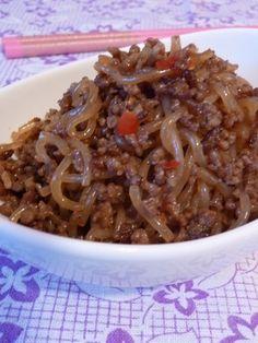 Spicy Stir-Fried Ground Meat & Shirataki Noodles