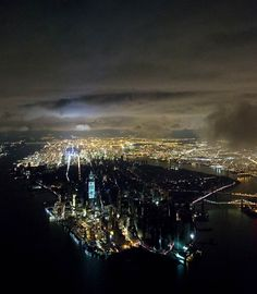The Year in Pictures: 2012 | Manhattan in the aftermath of Superstorm Sandy, including the blackout from the power outage south of 39th Street on Oct. 31 - Nov. 1, in New York City. (Photo: Iwan Baan / Getty Images)