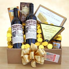 Gold Rush Wine and Chococlate Gift - http://giftbasketblessings.com/product/gold-rush-wine-and-chococlate-gift/