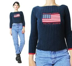 1990s Polo Sweater Ralph Lauren Vintage American by honeymoonmuse