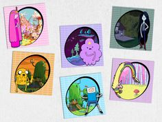 Set of 6 Adventure Time Character Magnets by The Geek Boutique, $9.95