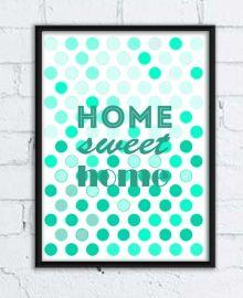 Grafika ścienna - home sweet home