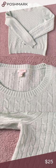 J Crew outlet sweater Mint green J Crew sweater J. Crew Factory Sweaters Crew & Scoop Necks