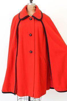 60's Mod Cape S-M-L / 1960's Cape Coat / The Sherlock Cape. $92.00, via Etsy.