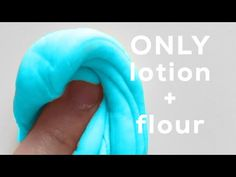 Diy how to make slime without glue boraxliquid starch or detergent diy fluffy slime using only lotion and flour tutorial no borax no glue no liquid starch no contact solution or anything else required ccuart Gallery