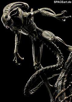 Alien 2: Alien Warrior Statue, Fertig-Modell, http://spaceart.de/produkte/al016.php