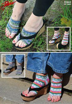Flip Flop-socks – Free pattern on our website.