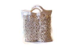 Crochet tote , Summer beach bag by CreativeManiacs on Etsy