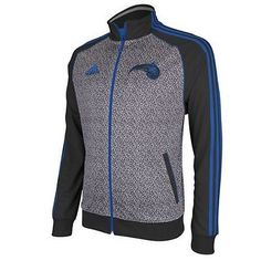 5023d64656b Orlando Magic adidas NBA Static Black Gray Mens Track Jacket Orlando Magic