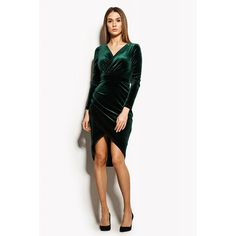 Awesome Velvet Wrap Dress  If you think you will need an inch or two added or taken off to the length of the bottom or sleeves of this dress, please let me know in the message box upon checkout.  MATERIAL: Velvet COLORS: Green, Red, Black ATTENTION: Color of product may vary depending upon monitor  SIZES: XS, S, M, L, You can choose the required size from the table below. You can also order item according to your own size.  For a custom orders please give us info as below: Waist…