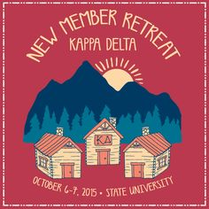 Super cute New Member Retreat design! There's more in our gallery! #geneologie #fall #newmember #sorority #greeklife #retreat #cabin #customdesign