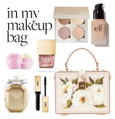 """make up"" by vikakarpunina on Polyvore featuring beauty, Dolce&Gabbana, e.l.f., Victoria's Secret, Eos and Yves Saint Laurent"