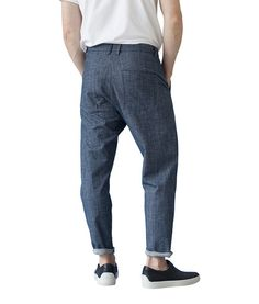 Son of a tailor - Sea Soft Pants, Blue Melange Soft Pants, Drop Crotch, Ss16, Menswear, Sweatpants, Fabric, Blue, Collection, Style
