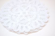 8 Battenburg Lace Doily  Set of 6 by 450west on Etsy, $7.50