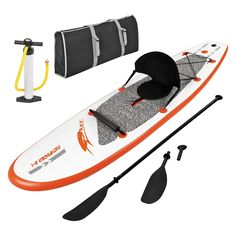 Inflatable Stand Up Paddleboard with Paddle and Hand Pump - The Blue Wave Sports Stingray 10 ft. Inflatable Stand Up Paddle board with Paddle and Hand Pump is the perfect way for any rider up to 220 lbs. Sup Stand Up Paddle, Kayak Paddle, Triathlon, Skate, Sup Girl, Sup Accessories, Inflatable Paddle Board, Inflatable Kayak, Sup Yoga