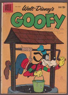 1959 Dell Four Color WALT DISNEY'S GOOFY #987 Vintage FC Comic Book #disney #waltdisney