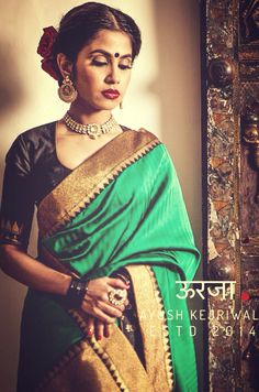 Banarsi Saree by Ayush Kejriwal For purchase enquires email me at ayushk@hotmail.co.uk or whats app me on 00447840384707. We ship WORLDWIDE.  Instagram - designerayushkejriwal