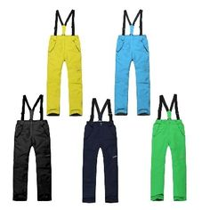 (69.00$)  Watch now - http://aid4v.worlditems.win/all/product.php?id=2055809644 - Boys Ski Pants Snowboard Pants Five Color For Chose Outdoor Insulation Waterproof Windproof Breathable
