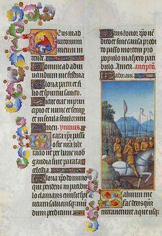 Folio 153v - Psalm LXVIII.jpg Très Riches Heures du Duc de Berry