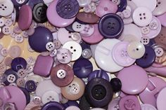Mix of 100 purple and lilac buttons Random by BeadsButtons4Crafts