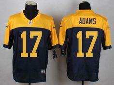 Green Bay Packers #17 Davante Adams Navy Blue Alternate Men's Stitched NFL New Elite