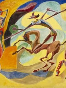 Andre Masson  Don Quixote and The Chariot of Death