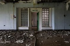 Abandoned.  North Wales Hospital Fire Exit.