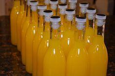 Orangecello from Ciao Chow Bambina Homemade Alcohol, Homemade Liquor, Homemade Liqueur Recipes, Alcoholic Drinks, Beverages, Liquor Drinks, Bourbon Drinks, Drinks Alcohol, Limoncello Recipe