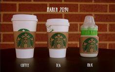 cutest pregnancy announcement ever! #starbucks @Jacqueline Nukaya if only there was a way to use diet coke instead this would have been perfect for you