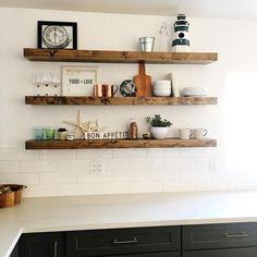 18 Best Floating Shelves In Kitchen Images In 2017 Kitchen Decor