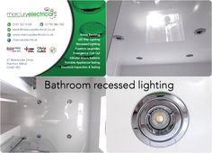 LED recessed lighting used to modernise a bathroom.